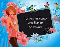 Tu blog es como una flor en primavera