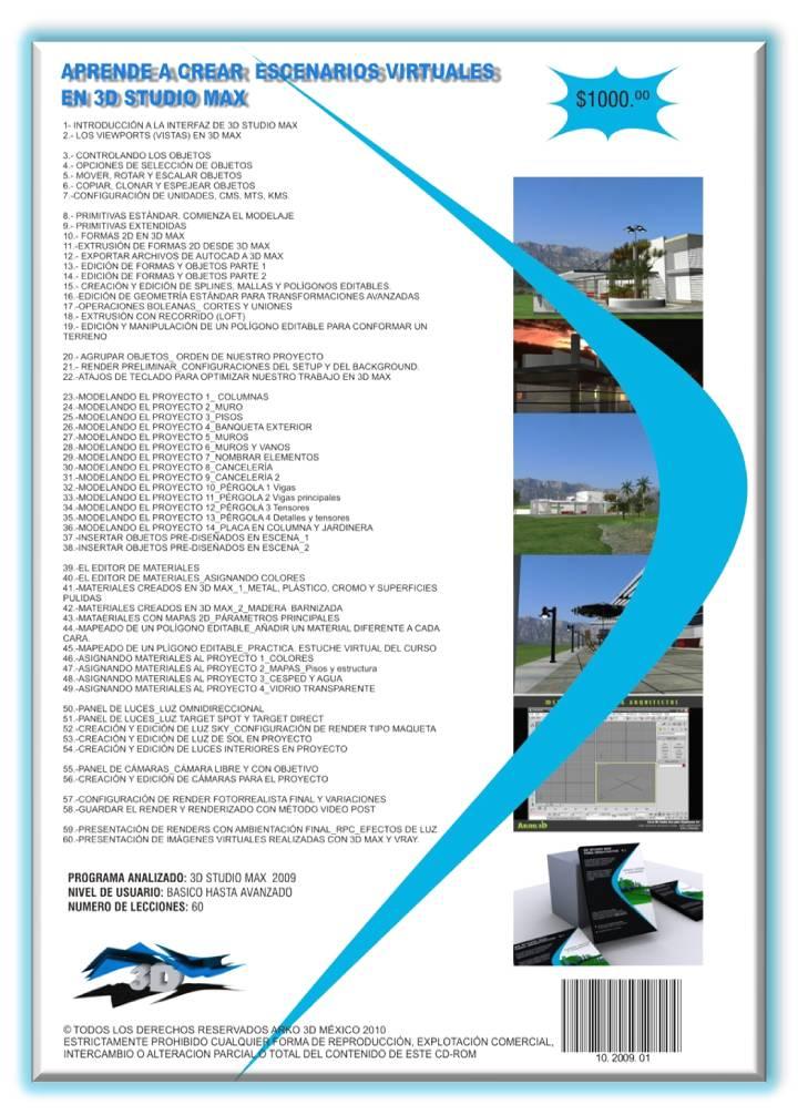 Infograf a en arquitectura curso 3ds max for Curso arquitectura software