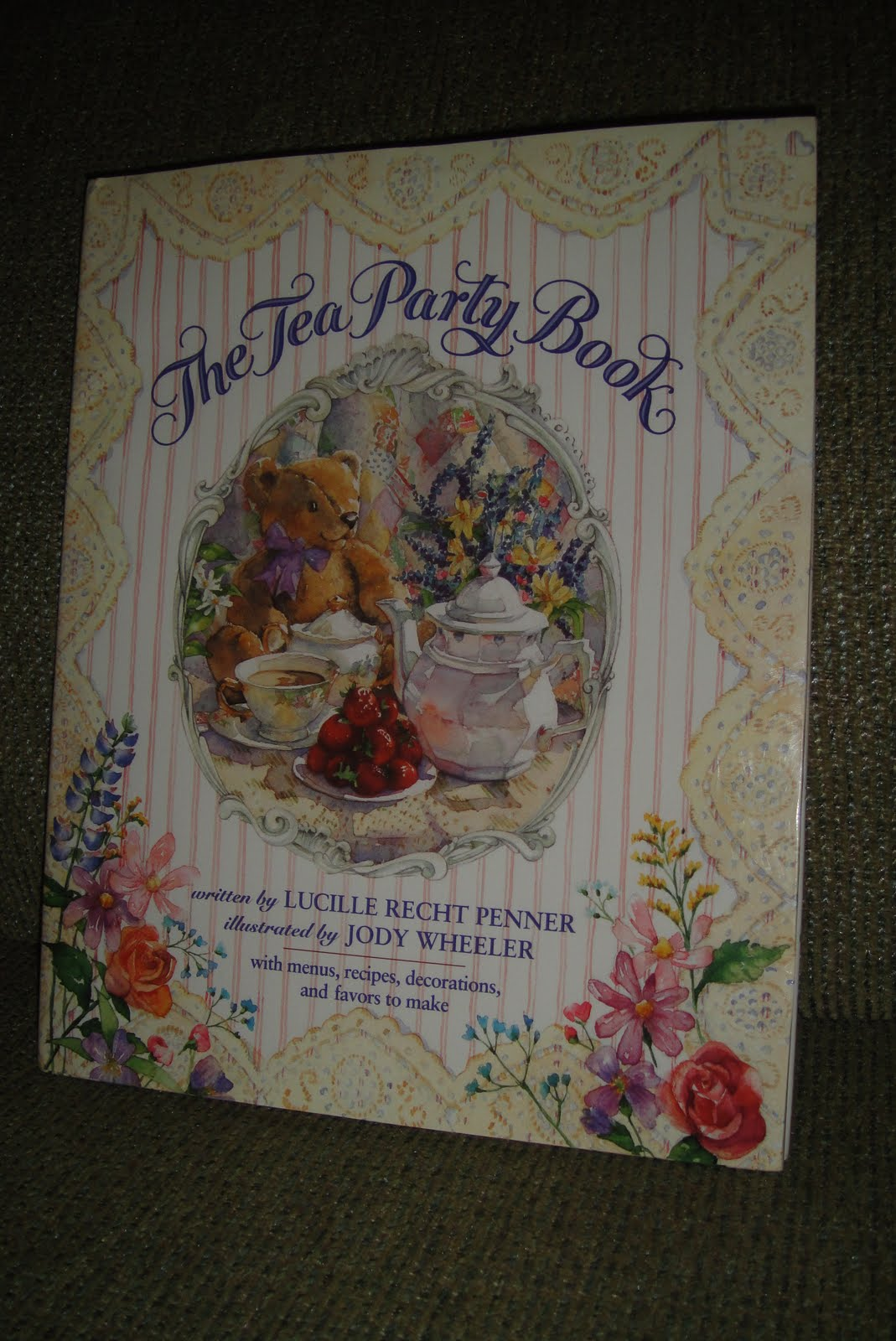 It is a delightful hard cover 39 page children s tea party planner by