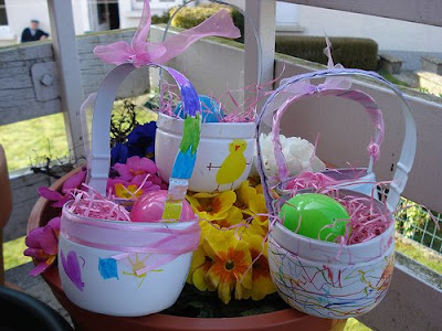 Crafty Recycled Easter Baskets