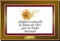 Premio Rosa de oro por la amistad muchas gracias Amparo