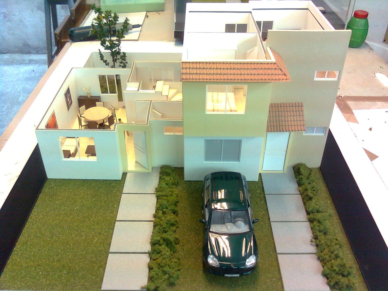 Maquetas de casa habitacion - Proyectos para construir una casa ...