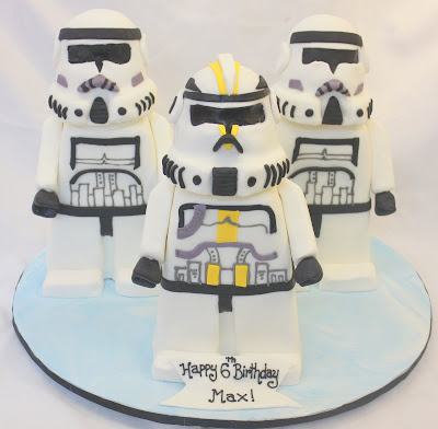 Star Wars Lego Storm Trooper cake