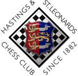 LXXXIII Congreso Internacional de Ajedrez de Hastings 2007 / 2008 y el escudo del Hastings and St. Leonards Chess club