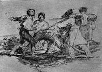 Arte y pintura, grabado de Francisco de Goya de la serie los Desastres de la guerra