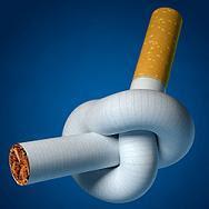 Razones para dejar de fumar en medicina natural, cigarrillo con nudo