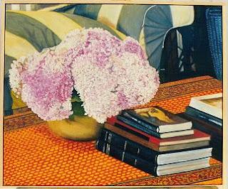Cuadro al óleo de Pilar Ochoa titulado: Los libros