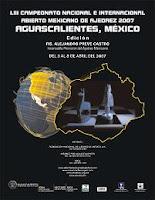 Cartel del LIII Torneo Abierto de Ajedrez Aguascalientes 2007