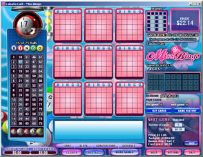 Jugar al bingo apostando en Miss Bingo