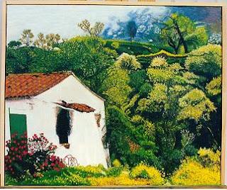 Cuadro al óleo de Pilar Ochoa titulado: Soledad