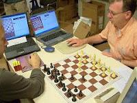 Partida de ajedrez entre los programas Gridchess y Rybka