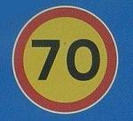Multas por exceso de velocidad - señal de 70 Km/h