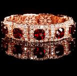 Joyas de ensueño - Brazalete de diamantes y rubís