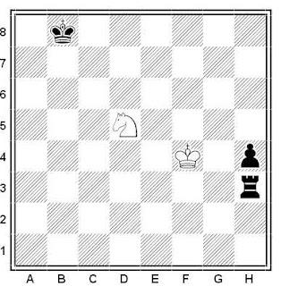 Problema ejercicio de ajedrez número 573: Estudio de G. M. Kasparian (1947)