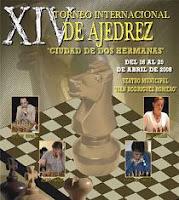 Cartel del el  XIV Torneo Internacional de Ajedrez Ciudad de Dos Hermanas 2008
