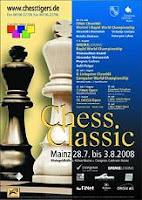 Cartel del Clásico de Ajedrez Maguncia Mainz 2008