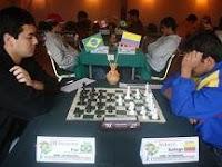 Partida de ajedrez Fier contra Gallego en el V Campeonato Sudamericano de Ajedrez sub-20
