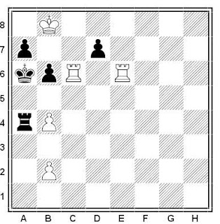 Problema ejercicio de ajedrez número 489: Estudio de V. Tarasyuk (1990)