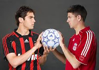 Kaká y Gerard del Milan y el Liverpool en apuestas en casinos