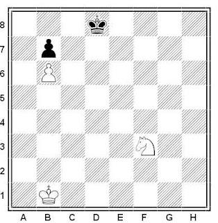Problema ejercicio de ajedrez número 513: Estudio de Cheron (1955)