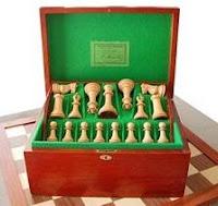 Juego de ajedrez Staunton de la casa Jaques de Londres rey de 4,4 pulgadas circa 1850