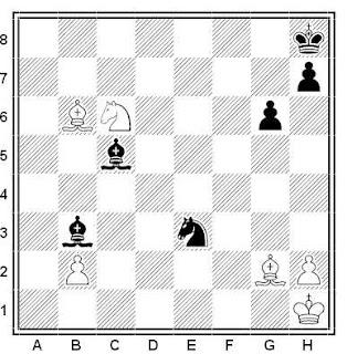 Problema ejercicio de ajedrez número 518: Sopkov - Moiseiev (URSS, 1952)