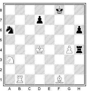 Problema ejercicio de ajedrez número 601: Estudio de Y. Bazlov (Moscú-850, 1997)