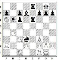 Posición ejemplo del mate de Morphy en la partida de ajedrez Paulsen vs Morphy, Nueva york (1857)