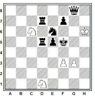 Problema ejercicio de ajedrez número 641: Estudio de Albert Beliavsky (La venganza de los caballos de la Reina)
