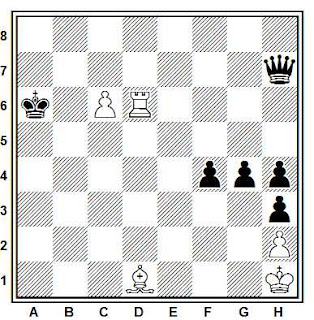 Problema de ajedrez número 662: Estudio artíticos de V.A. Korolkov (1947)