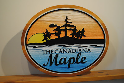 Custom Wood Lake Sign - The Sign Depot