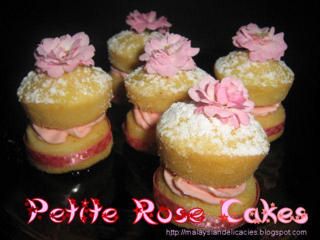 Petite rose cake