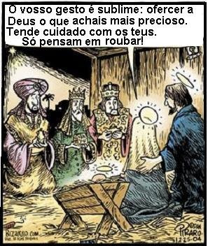 Jesus naceu mas não para os ateus ladrões que querem só roubar
