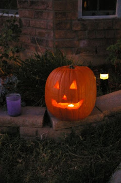 Justin's Pumpkin-First carved by himself