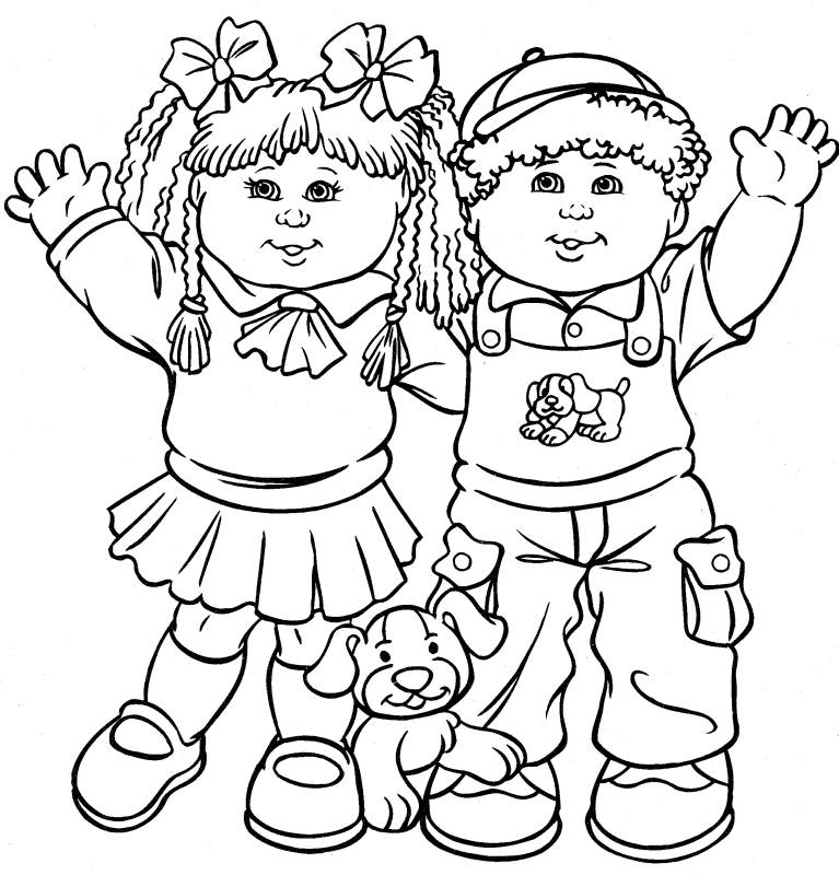 free coloring pages of children - photo#12