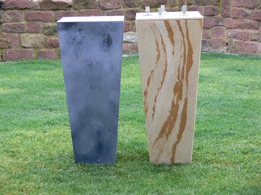 A gauche l'original à droite avec du grès flexible