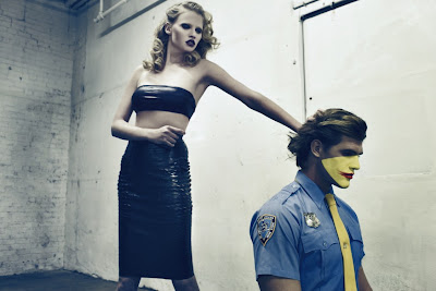 Lara Stone by Steven Klein for Vogue Paris