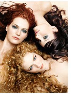 cor de cabelo e maquilhagem