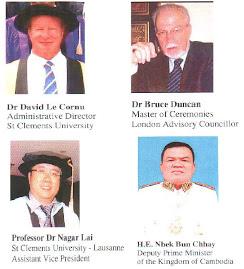 2010 Stclements University Graduation - 主禮嘉賓