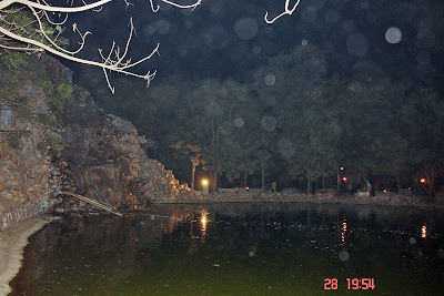 Chokhi Dhaani in Jaipur - The lake and waterfall inside
