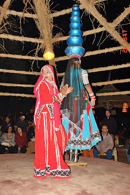 Chokhi Dhaani in Jaipur - Another view of a traditional dance