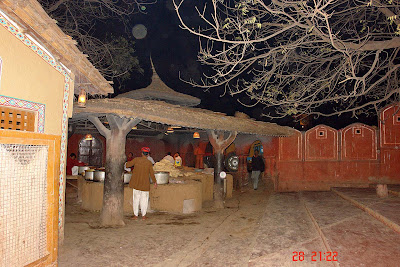 Chokhi Dhaani in Jaipur - A view of the cooking area