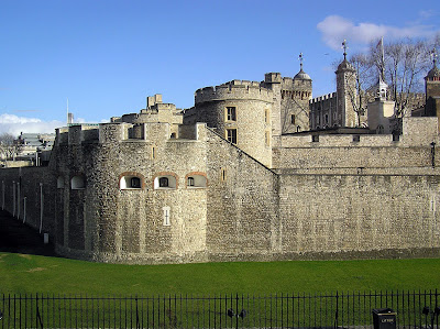 The Tower of London - A beautiful lawn replaces the moat now
