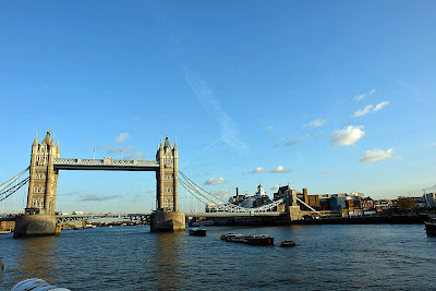 Photo of Tower Bridge and the buildings to one side of the bridge