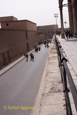 Saladin Citadel in Cairo - View of the narrow passageway, as seen from the height of the Mohammed Ali Mosque