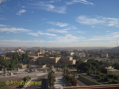 Basma Hotel in Aswan - view of the city of Aswan from the front of the hotel
