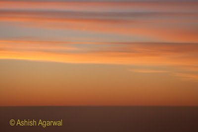 Photo of the sunset skyline as taken from a place above Aswan in Egypt
