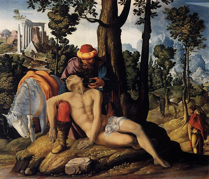 Lk 10:25-37 And Who is My Neighbor? dans immagini sacre 700px-Master_of_the_Good_Samaritan_001