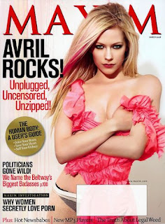 Avril Lavigne Sexy and Nude in Maxim Magazine