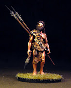 54mm Waiteri tribe: Scout with tiger hide